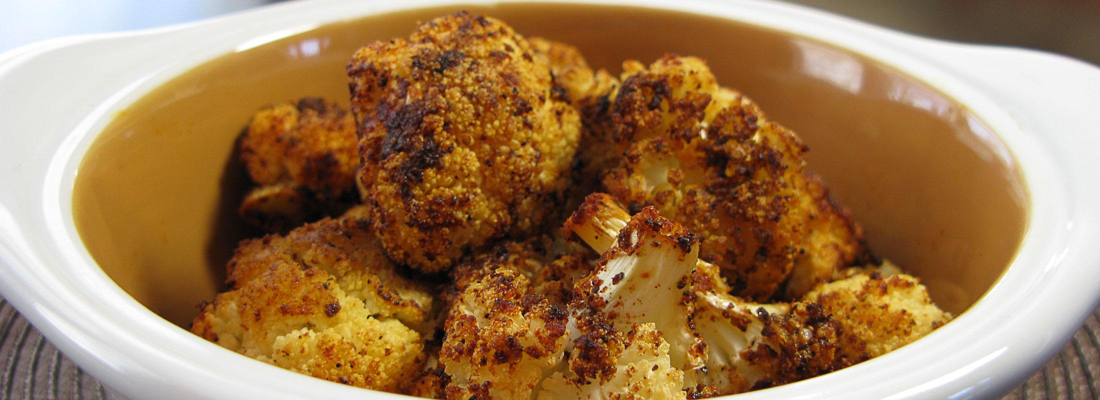 Smoky & Spicy Roasted Cauliflower