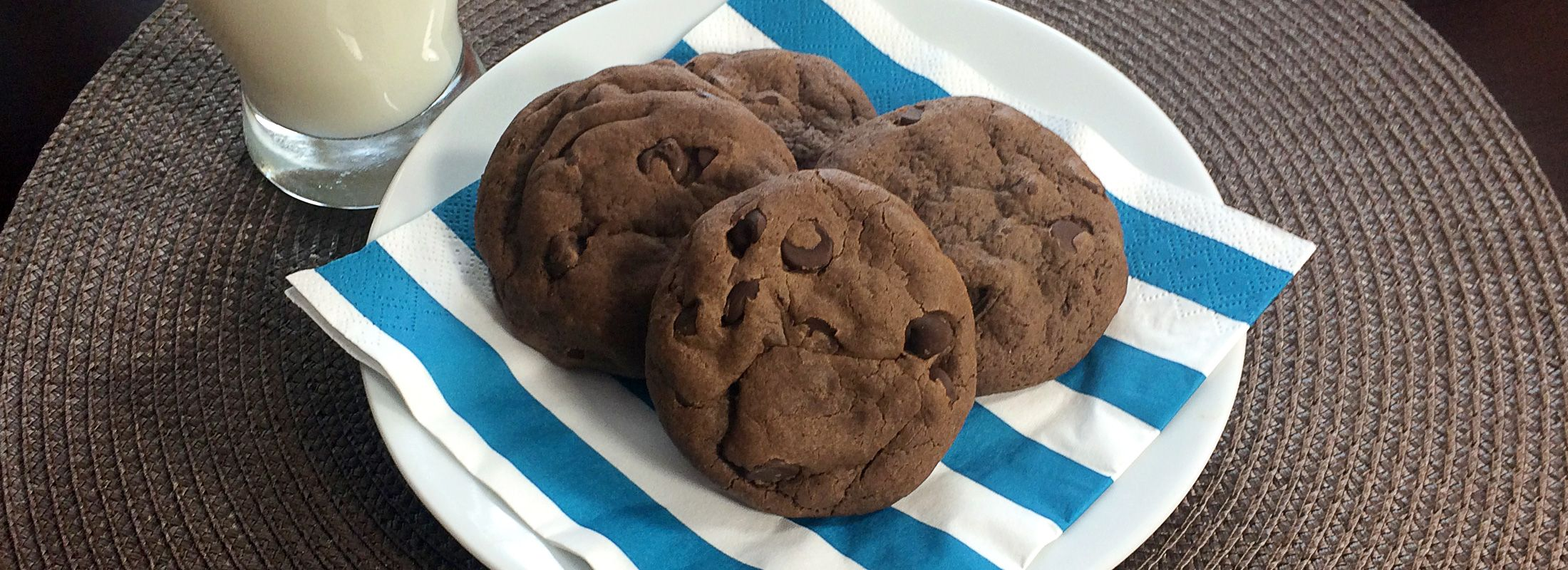 Double Chocolate Chip Peppermint Cookies